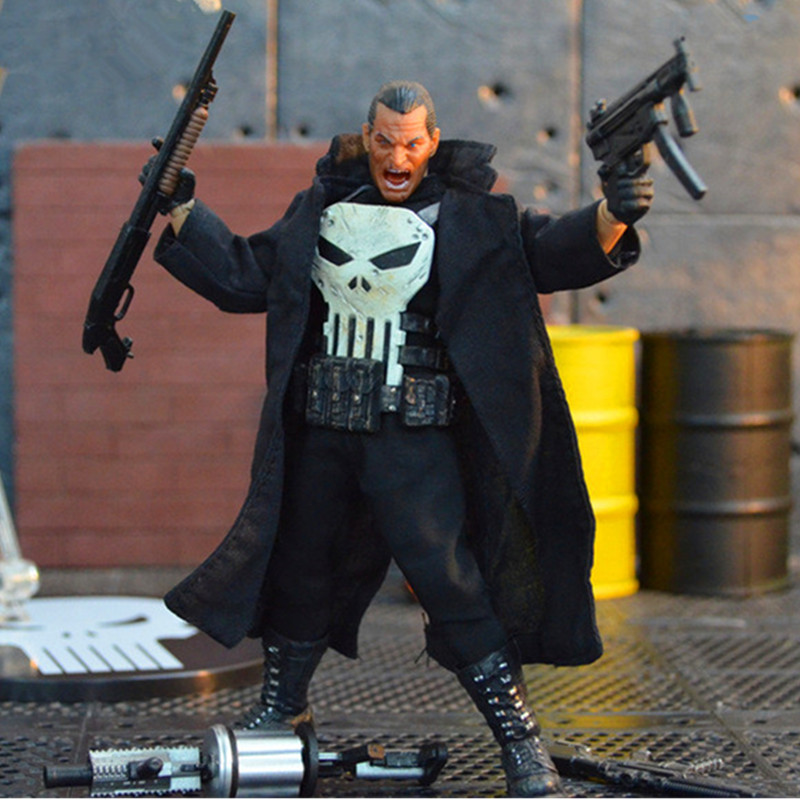 Punisher Frank Castle The Amazing Spider-Man PVC Cartoon Action Figure Collectible Model Toy Christmas Gift Toy L2136 spiderman creator x creator the amazing spider man pvc figure collectible model toy