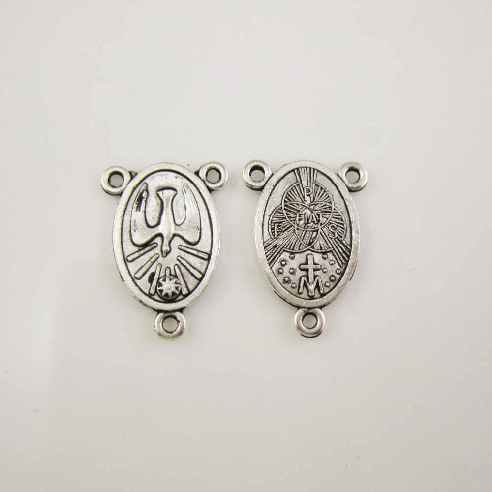 Holy Spirit Dove Medal Catholic Charm Gifts Rosary Parts 1