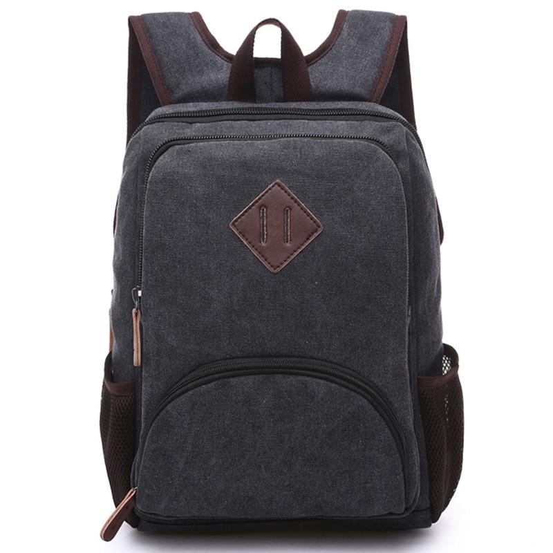 Canvas Backpack for Men Teenagers School Back Pack Women Laptop Bagpack Travel Bags Retro Rucksacks Bolsas Mochilas Sac A Dos