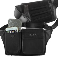 For Samsung Galaxy series Pierre Cardin Genuine Leather Multi function Belt Clip Pouch Phone Bag Cover