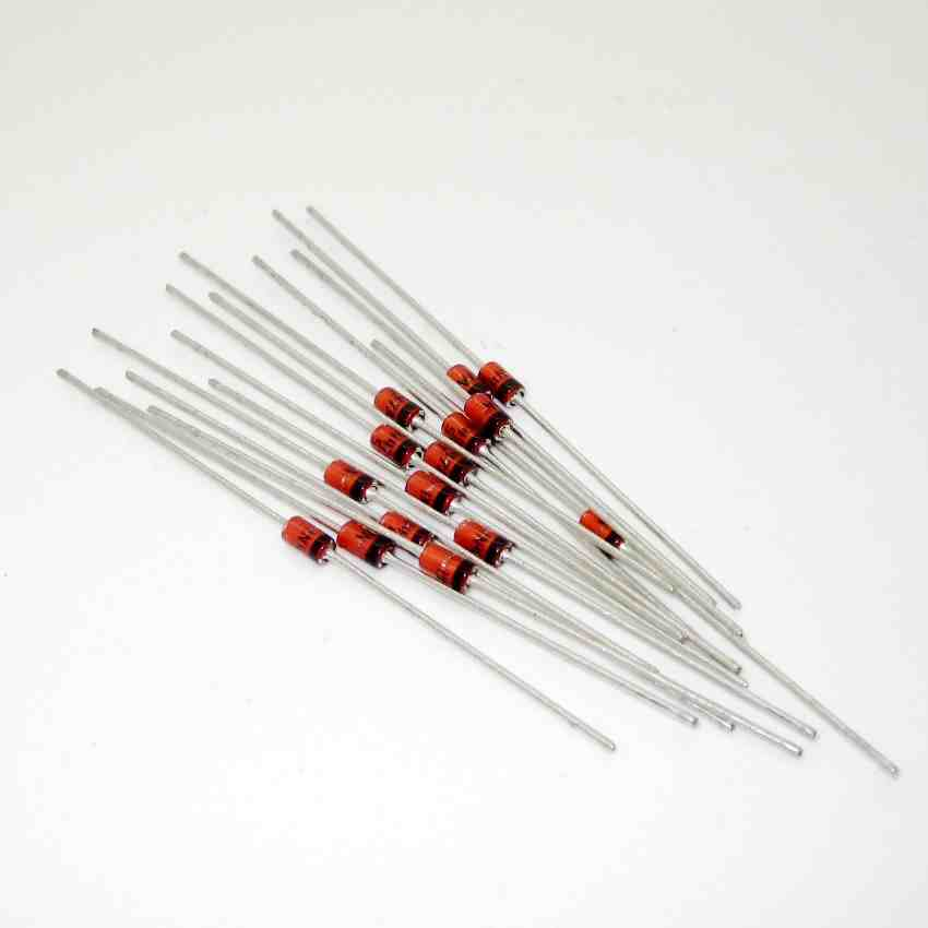 50pcs <font><b>1N4743</b></font> DO-41 Axial Lead Zener Diode Brand New image