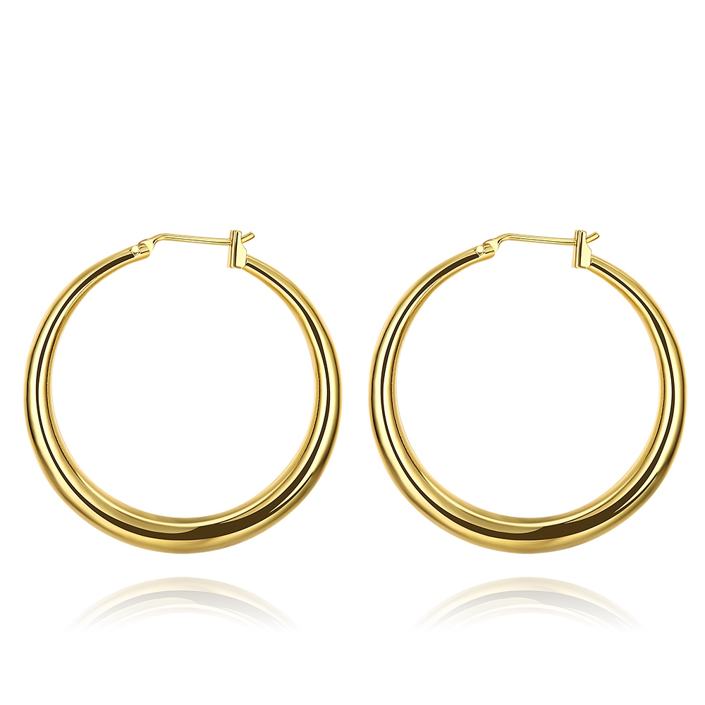 Us 1 86 15 Off E031 2017 New Design Hoop Earrings Gold Color Rose Jewelry For Women Fashion Y Top Quality Brinco In