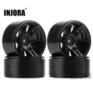 Image 1 - 4PCS Metal Wheel Rim 1.9 Inch BEADLOCK for 1/10 RC Rock Crawler Axial SCX10 90046 AXI03007 TAMIYA CC01 D90 TF2 Traxxas TRX 4