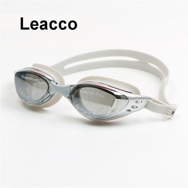 Взрослая рецептурная оптика плавательные очки для близоруких плавания силиконовые анти-противотуманные с покрытием воды диоптрий очки для плавания очки маска