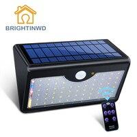Solar Light 6500mAH 1250LM Ip65 60led Remote Control Outdoor Lighting Led Street Garden Lights Modern