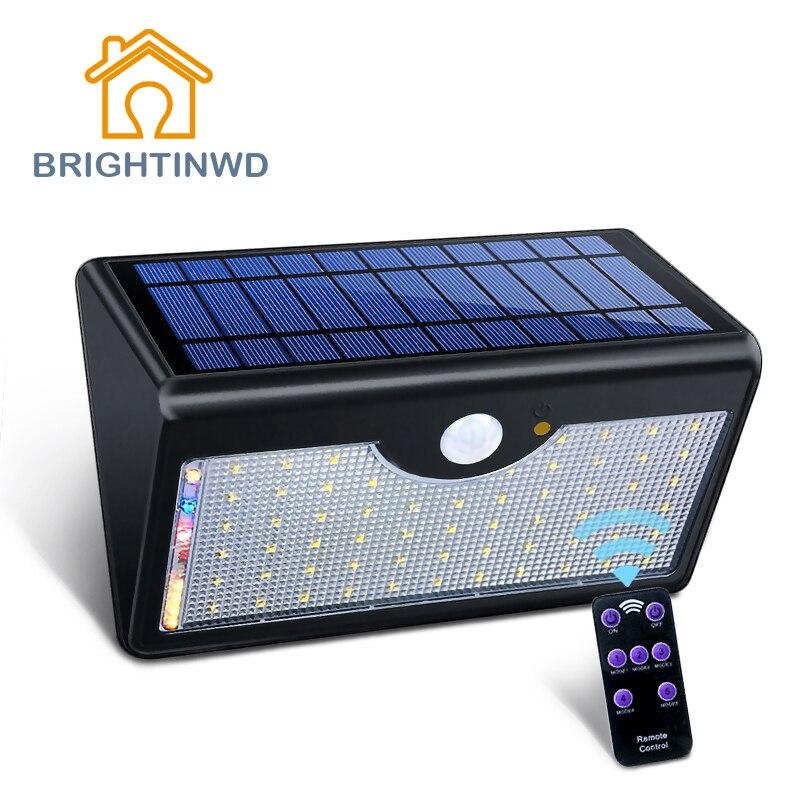 Solar Light 1300LM Ip65 60led Remote control Outdoor Lighting Led Street Garden Lights Modern