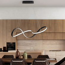 Best Hot Dimmable White/Black Modern LED Pendant Lights for Dining Room Living Room Bar Hanging Suspension Pendant Lamp Witeh RC цена 2017
