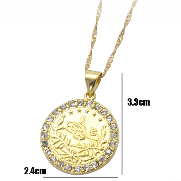 muslim allah crystal pendant & necklace for women & men, charm Islam Jewelry & gift