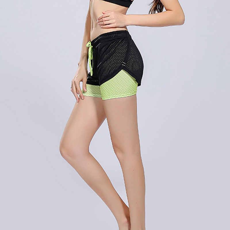 Damskie spodenki do biegania 2 w 1 Running rajstopy krótkie siłownia dla kobiet fajne kobieta Sport krótkie spodenki damskie do biegania damskie spodenki odzież sportowa