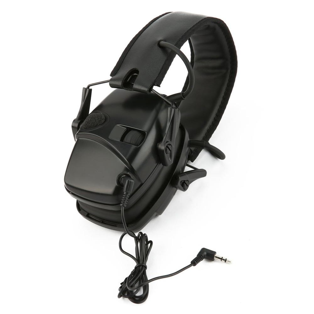 Tactical hunting shooting headphones sports earmuffs anti-noise amplification hearing protection headphones foldable(China)