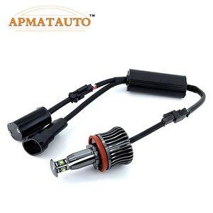 Image 4 - 2x H8 ข้อผิดพลาดฟรี 40 W 2400lm XPE ชิป LED Angel Eye Marker หลอดไฟสำหรับ BMW E60 E61 E70 e71 E90 E92 E93 X5 X6 Z4 M3