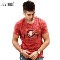 JACK CORDEE 2017 New T Shirt Men Streetwear Print Cotton Summer Tshirt Slim Fit Tee Shirt