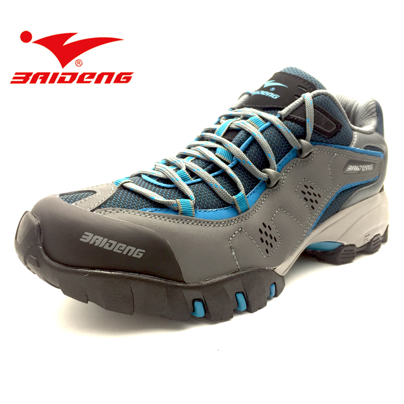 Baideng Genuine leather men Hiking shoes outdoor sport shoes sneakers women climbing trekking shoes zapatillas hombre mujer 2017brand sport mesh men running shoes athletic sneakers air breath increased within zapatillas deportivas trainers couple shoes