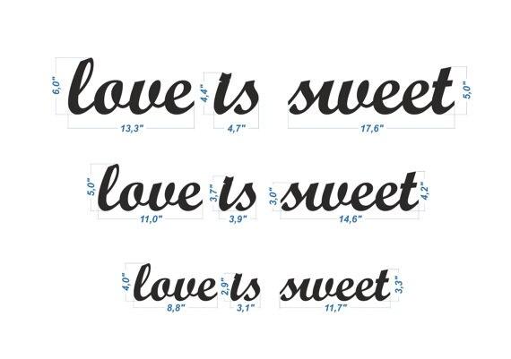Свадебные украшения  LOVE IS свит  деревянный письма, Древесины знак для милая таблица