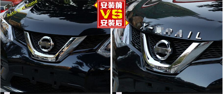 For Nissan X-Trail Rogue T32 2014 2015 2016 / X-Trail 2009 - 2013 ABS 3D X-Trail Letters Hood Emblem Trim abs chrome door body side molding trim cover for nissan x trail x trial xtrail t32 2014 2015 2016 2017 car styling accessories