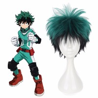 Anime Boku No Hero Academia Wigs Cosplay Costume Midoriya Izuku Hairpiece Periwig Headwear Accessories Green Short