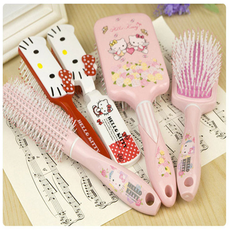 6pcs/lot cute cat cartoon children comb anti-static, airbag massage comb, air volume cute 6pcs lot adult