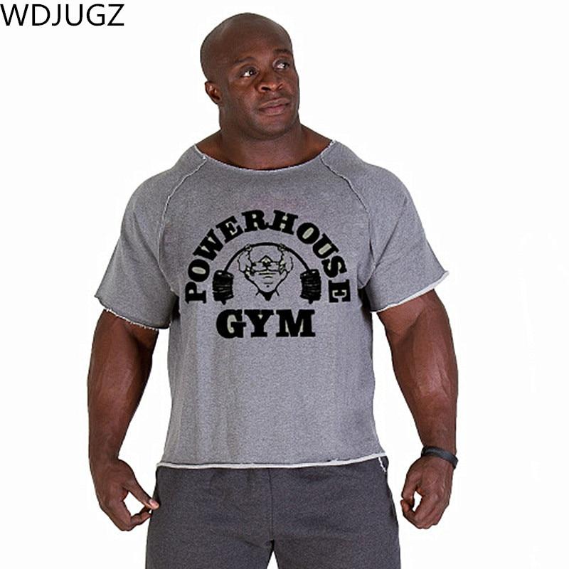New Men's   Shirts  ,Golds NPC Powerhouse Gorilla Wear Fitness& Bodybuilding & Workout Clothes Terry Cotton High Elastic   T  -  Shirt
