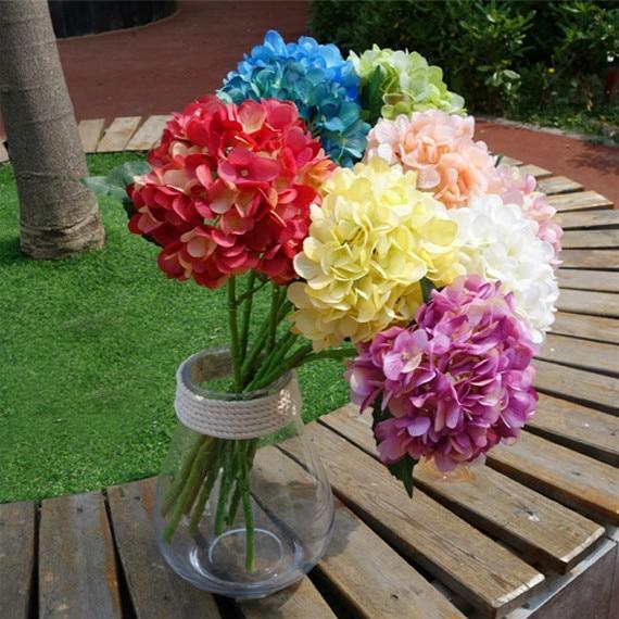 16 cm große hortensien hochzeit dekoration tabelle mittelstücke weiß ...