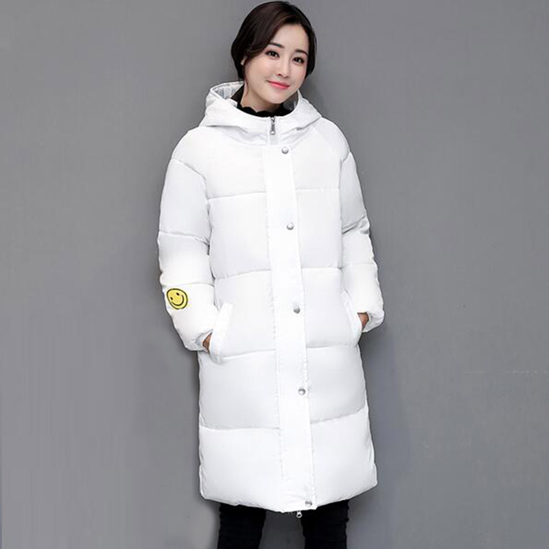 2017 Winter Women Long Hooded Plus Size Cotton Coat Thickening Parkas Outerwear Female Wadded Jacket Padded Cotton Coats PW0995 women long plus size jackets padded cotton coats winter hooded warm wadded female parkas fur collar outerwear