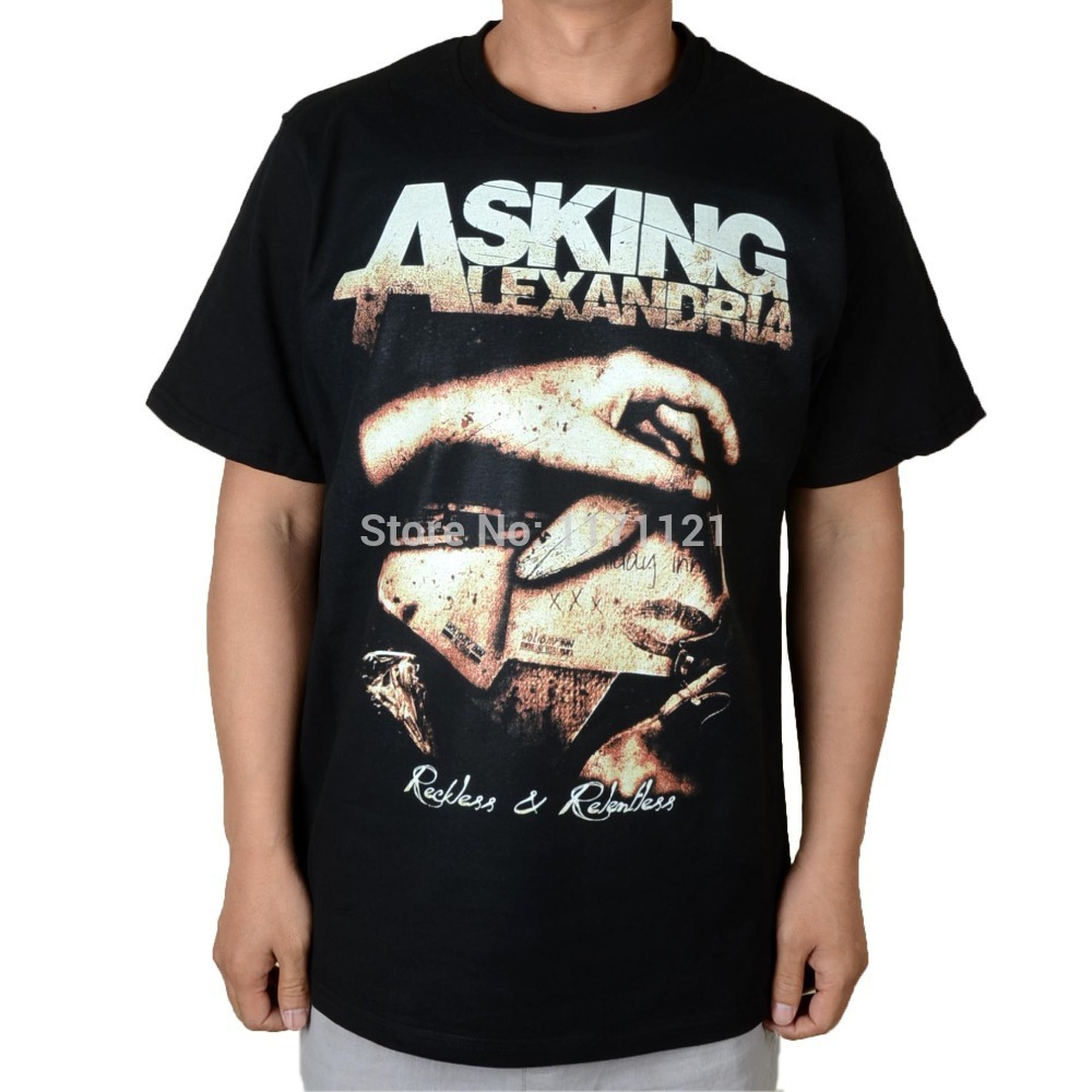 metal ask promotion shop for promotional metal ask on aliexpress com asking alexandria winds of plague death core heavy metal 100% cotton t shirt
