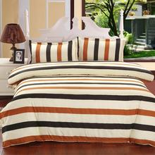 4pcs Stripe Rainbow Bedding Set cotton blend Bed Sheets Duvet Cover Flat Bedspread Sets Home Textile Kids Bedroom Bed Sets