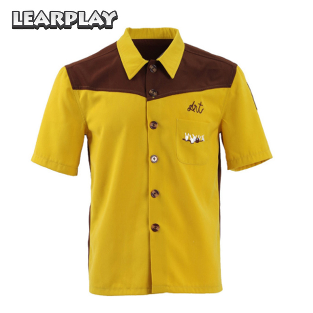 8fbce977fbdae Le grand Lebowski chemise mec Costume Cosplay jaune médina Sod chemises  Bowling eté manches courtes tee