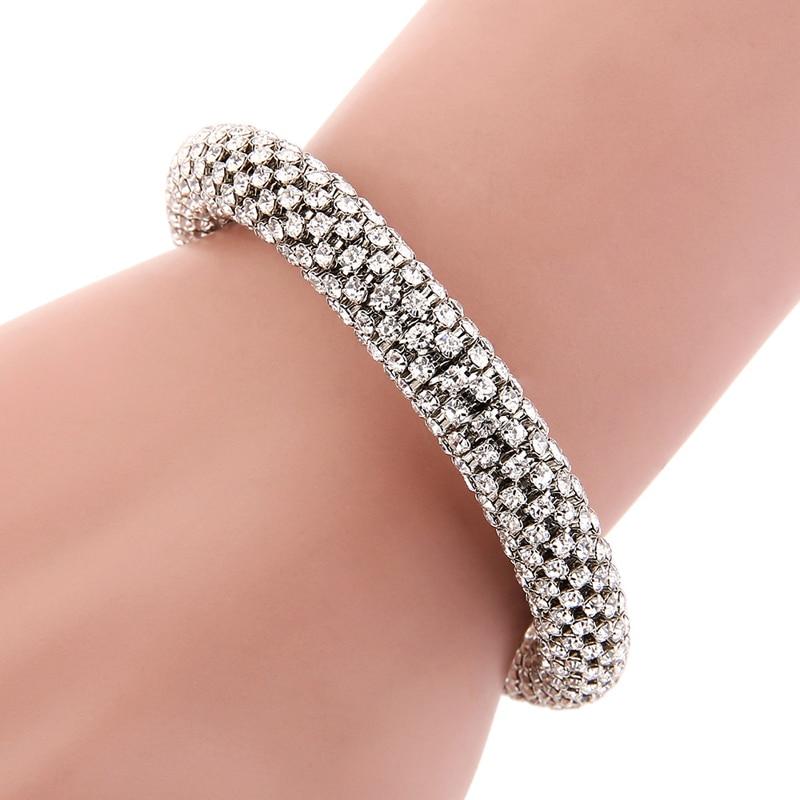 LOVBEAFAS Fashion Luxury Cuff Bracelets & Bangles For Women Crystal Rhinestone Vintage Bracelets Fine Jewelry Accessories 4