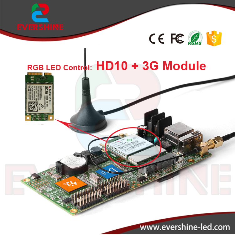 High reliability excellent product D10 HD-D10+ 3G module rgb led sign controller card for Windows, Taxi, advertising led screen simcom 5360 module 3g modem bulk sms sending and receiving simcom 3g module support imei change
