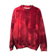 Fashion Vintage autumn winter long sleeve Loose boyish women sweatshirts hoodies o neck velour velvet hoodies shirts Tops,WH0234