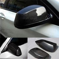 E60 Car Side Wing Rearview Mirror Cover Caps for BMW 5Series E60 Sedan Carbon Fiber 2005 2011