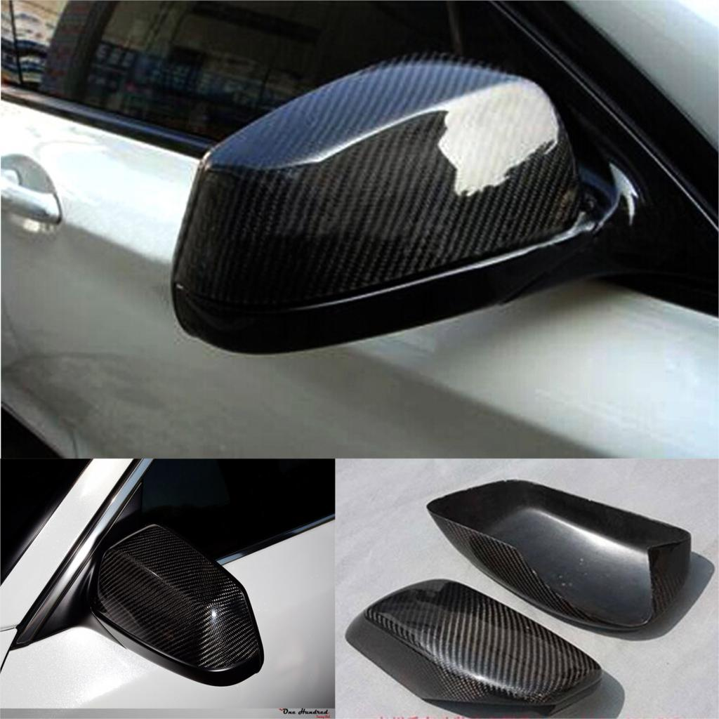 E60 Car Side Wing Rearview Mirror Cover Caps for BMW 5Series E60 Sedan Carbon Fiber 2005-2011 carbon fiber side wing mirror cover caps for volkswagen vw golf mk5 2005 2007