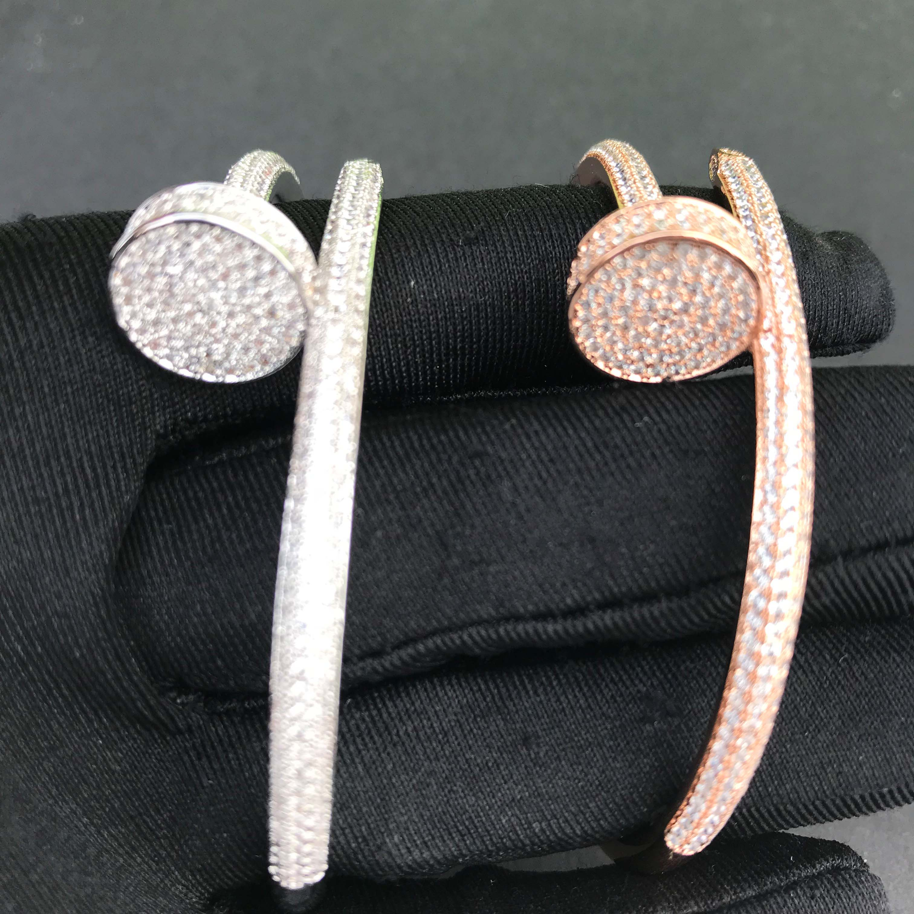 Wholesale jewelry iced out nail bracelet-in Chain Necklaces from Jewelry & Accessories