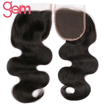 Brazilian Body Wave Lace Closure Size 4″x4″ Free Part 100% Remy Human Hair Can Be Dyed