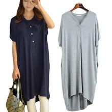 Vrouwen Nightgowns Zomer Nachtkleding Casual Night Jurken Plus Size Korte Mouwen Jurken Vrouwen Losse Nachthemd Thuis Kleren
