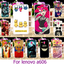 Soft TPU Hard Plastic Phone Case For Lenovo A606 5.5 inch A 606 Painted Case Cover Skin Shell Housing Back Cover