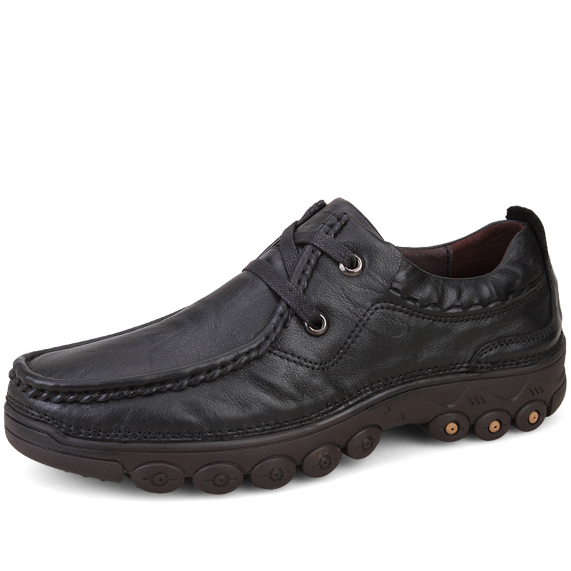 ФОТО Plus Size Shoes Men Brand Big Sizes Genuine Leather Fashion Men Shoes Handmade Winter Brand High Quality Men Flats Shoes 38-47