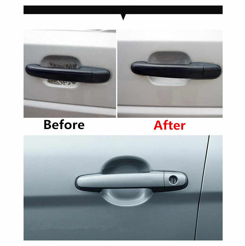 5pcs/lot Car door Handle Stickers Protection for Mitsubishi ASX Outlander Lancer EX Pajero for Mazda 2 3 5 6 8 CX 5 CX-5 CX-7