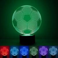 1pec Set Football Lamp 7 Color Changing Visual Illusion LED Lamp 2016 Fashion Toy 3D Light