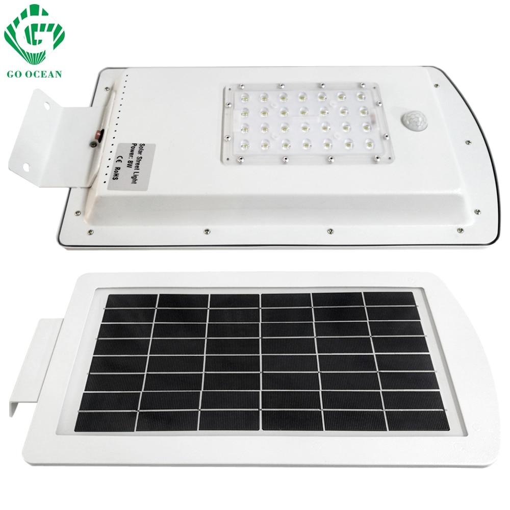 GO OCEAN Solar Lamps LED Solar Waterproof Wall Integrated LED Street Light Solar Lamp Motion Sensor