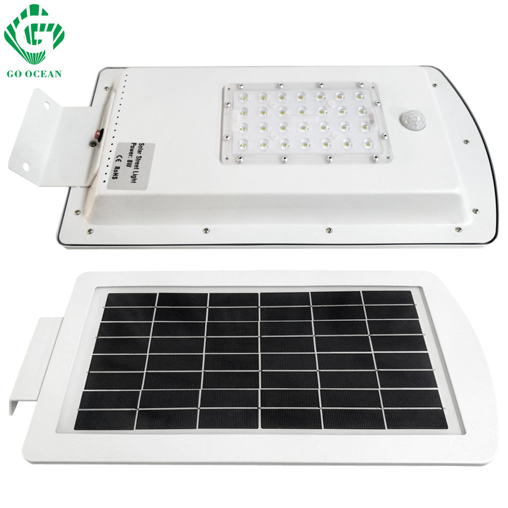 GO OCEAN Solar Lamps LED Solar Waterproof Wall Integrated LED Street Light Solar Lamp Motion Sensor Outdoor Garden Light