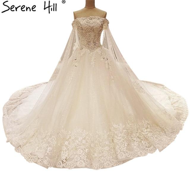 Weiß Sexy Prinzessin Stil Brautkleid Spitze Diamant Perlen ...