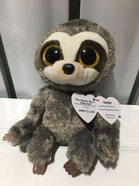 dangler sloth TY BEANIE BOOS collection 15CM BIG EYE Plush Toys Stuffed  animals soft toy baby 9fff210b975b