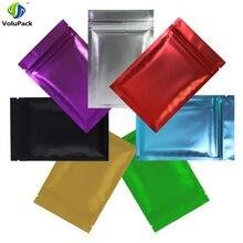 both side new style100pcs 8.5X13CM/3.3x5  Foil herb Black flat mylar Zip Lock Bag #c2a