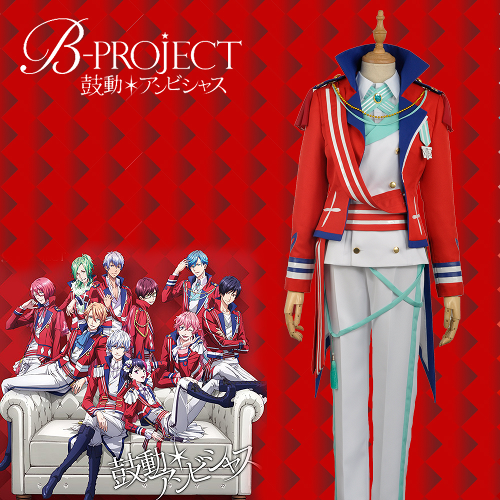 W1031-2 Anime/Game Virtual Idol Group B-project  Aizome Kento Group Red Stage Cosplay Custom Costume Outfit Clothing For Adult