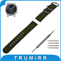 22mm Nylon Watch Band for Samsung Gear S3 Classic / Frontier Zulu Fabric Strap Wrist Belt Bracelet Black Gray Blue Brown Green