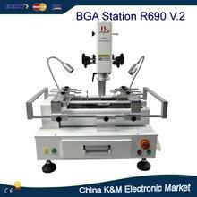 Estación de retrabajo BGA de LY tipo cajón pantalla táctil R690 v.2 estación de soldadura BGA reparación de la máquina Placa Base