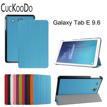 CucKooDo 50Pcs/lot Ultra Slim Smart Cover Stand Case For 2015 Released Samsung Galaxy Tab E 9.6-Inch SM-T560/SM-T561 Tablet