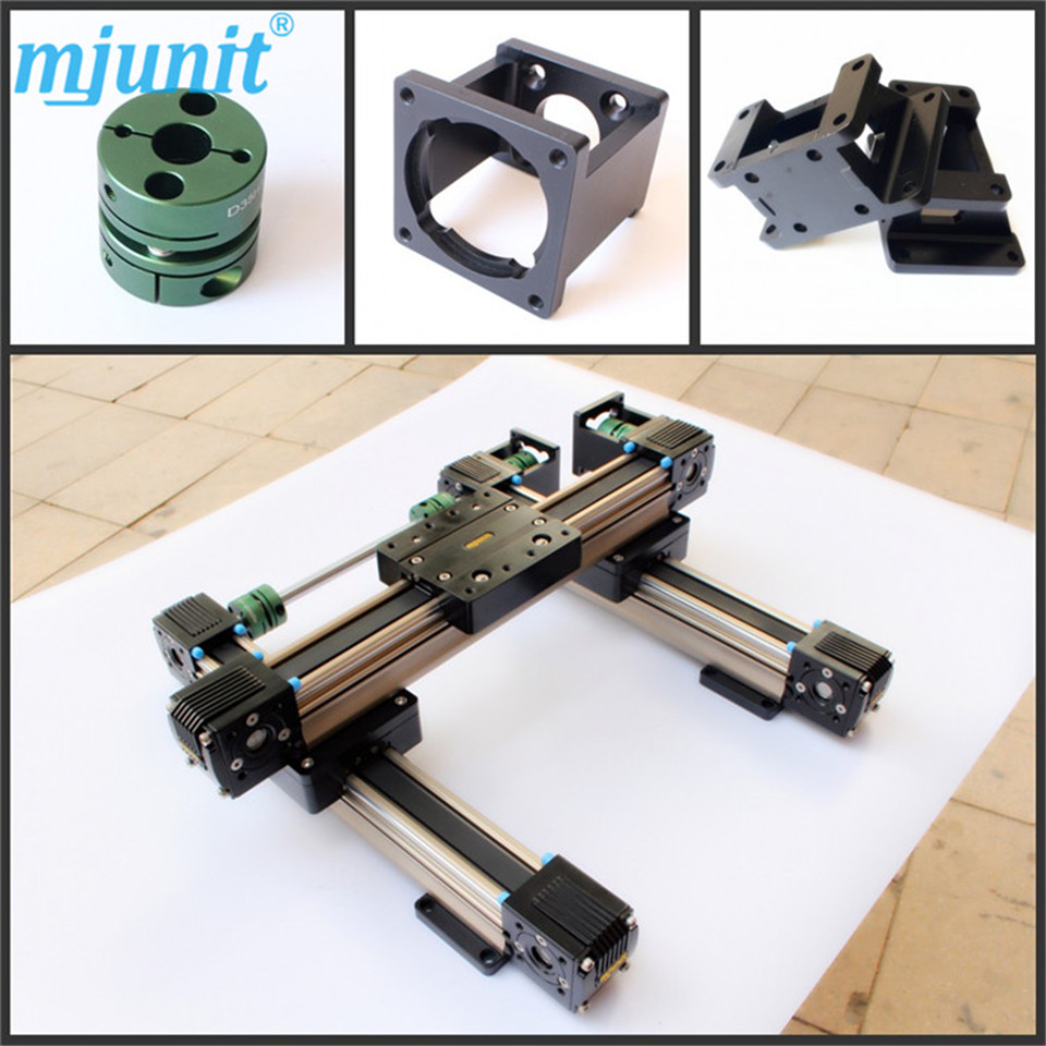 LINEAR BELT DRIVE ACTUATOR WITH MOTOR BRACKET Robot Belt Drive Linear Actuator within 3000mm Travel custom length belt driven linear slide rail belt drive guideway professional manufacturer of actuator system axis positioning