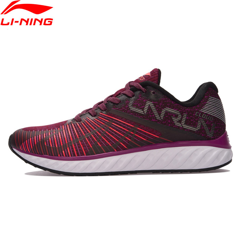 Li-Ning LN CLOUD IV 'FLAME' Running Shoes Women Comfort Mono Yarn LiNing Breathable Sneakers Wearable Sport Shoes ARHM068 XYP590